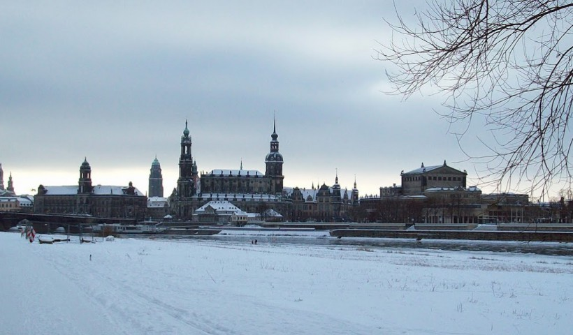 Dresden Winter Canaletto Blick